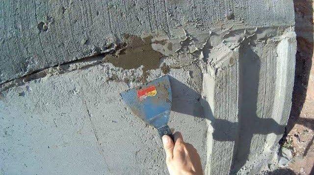 Заделка трещин в фундаменте