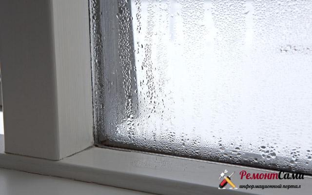 Почему запотевают пластиковые окна внутри