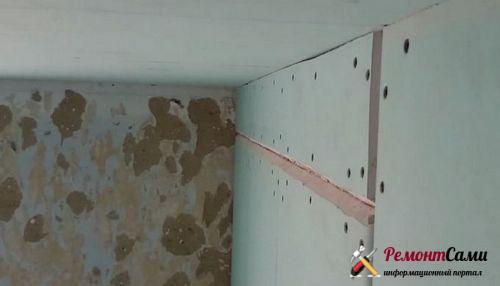 Гипсокартон на стену на саморезы