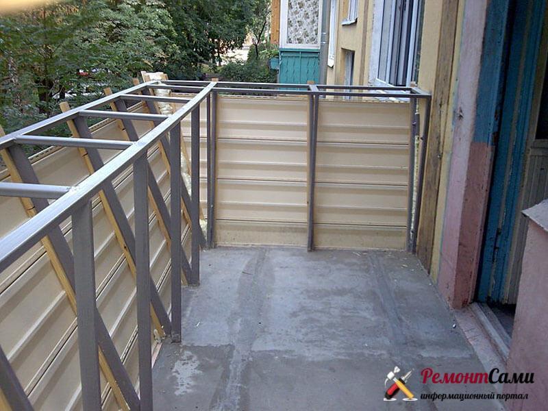 Выносной каркас балкона