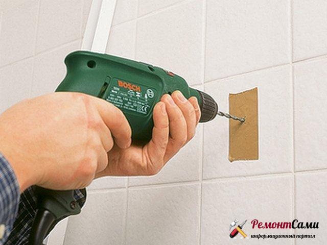 Сверление плитки в ванной