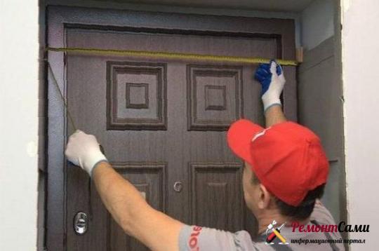 Замеры металлической двери