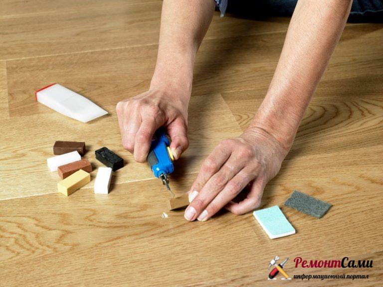 Как убрать сколы на ламинате в домашних условиях - PLtrans.rЦарапины на ламинате.