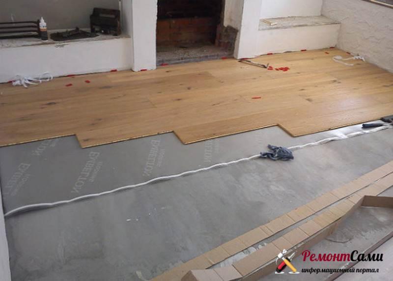 Как положить ламинат на бетонный пол самостоятельно