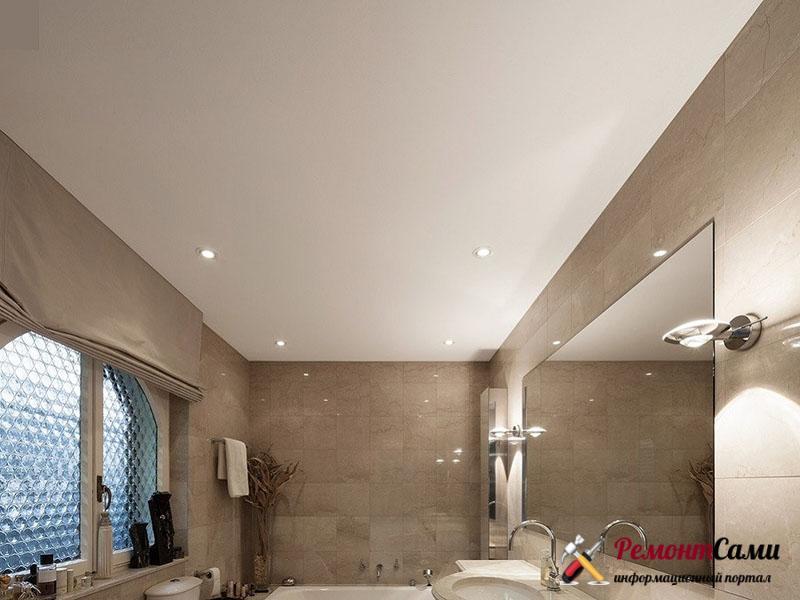 Потолки натяжные в ванной