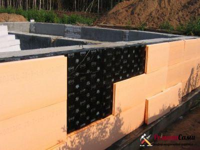 Создание теплоизоляции фундамента с помощью плит Пеноплекс