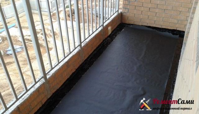 Гидроизоляция пола балкона или лоджии