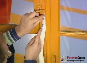 Утепление деревянных окон с помощью поролона