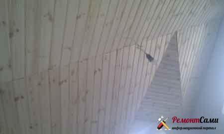 вагонка-дерево-потолок