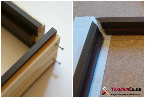 Стыковка коробки межкомнатной двери