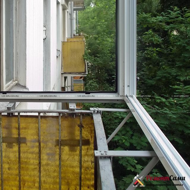 Остекление балкона с выносом рамы
