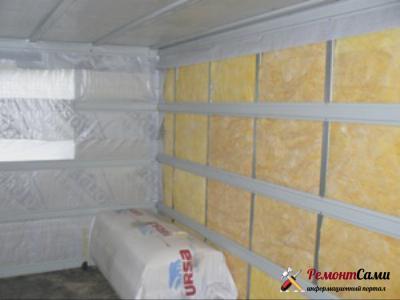 Утепление стен внутри помещения