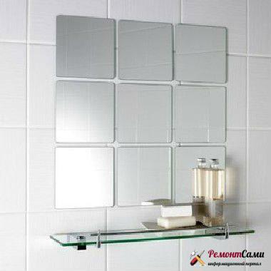 Как установить зеркальную плитку